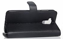 Кожаный чехол-книжка для Doogee Y6 черный, фото 3
