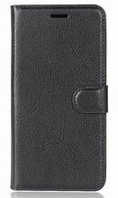 Кожаный чехол-книжка для Doogee BL12000 черный