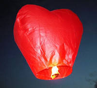 Небесный фонарик Сердечко