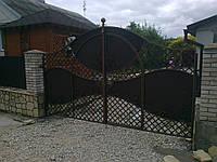 Ворота распашные полупрозрачные