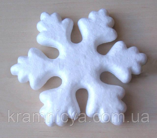 Новогодняя заготовка пеннопластовая Снежинка