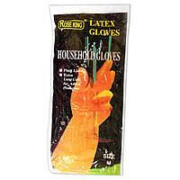 Перчатки для уборки в доме латексные Rose king (размер M)