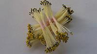 Тычинки для цветов коричнево-желтые круглые (маленькие)25шт.(код 00590)