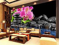 "Фотообои ""Орхидеи и камни"""