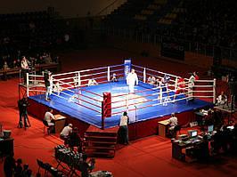 Боксерський ринг професійний поміст 6х6х0,6 м. канати 5х5 м.