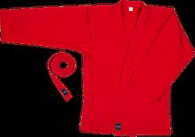 Куртка для самбо, Бойко-Спорт, червона, тканина ялинка, розмір 32/128