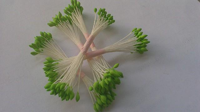 Тычинки для цветов зеленые кругло-остро 25шт. Украина - 00580