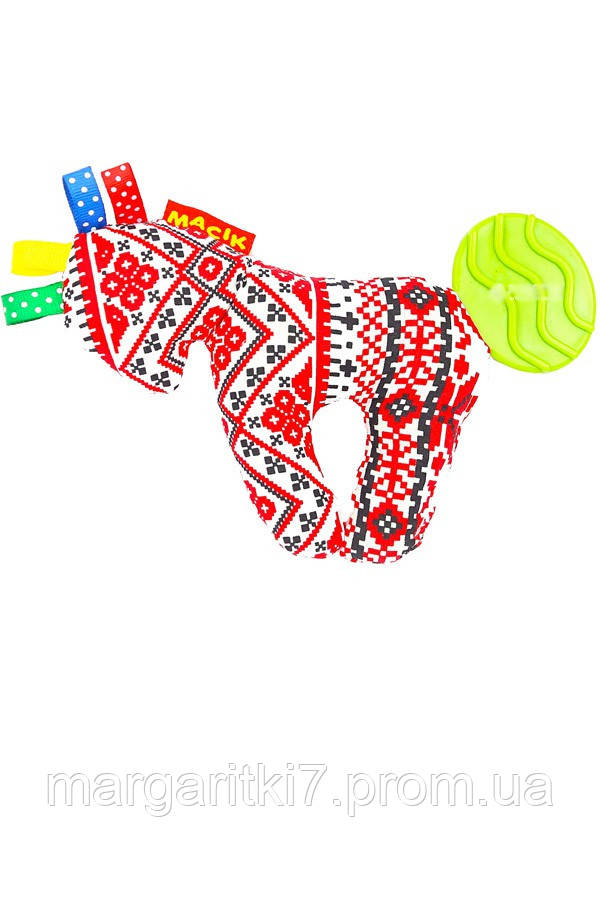 Погремушка для детей Этно-эко Macik лошадь с прорезывателем