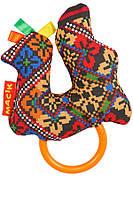 Погремушка для детей Этно-эко Macik птичка с кольцом