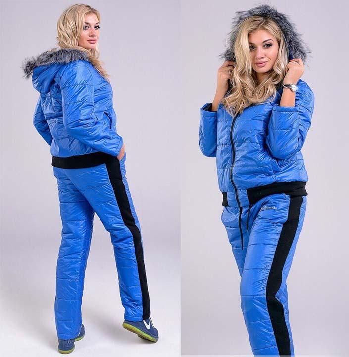 8f54ff8c57a3 Зимний женский спортивный костюм синтепон в больших размерах 5021