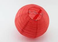 Шар плиссе декоративный подвесной  25  см. красный