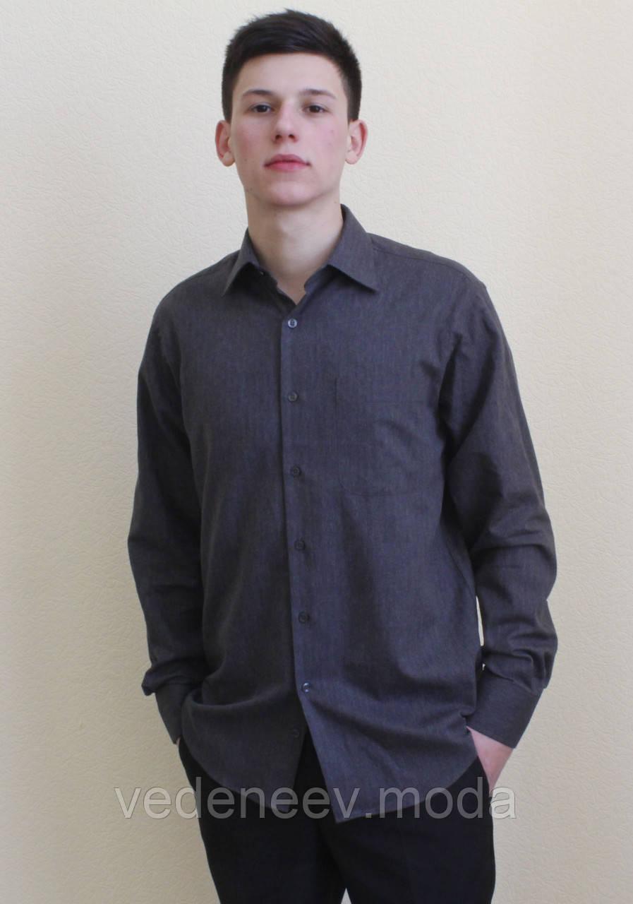 ac19062f50f Классическая мужская рубашка темно-серого цвета - Мужские и женские РУБАШКИ  для ВСЕХ.