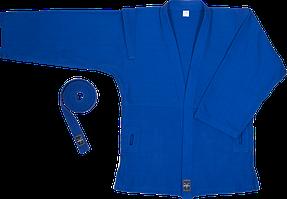 Куртка для самбо, Бойко-Спорт, синя, тканина ялинка, розмір 58/176