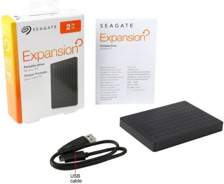 Жесткий диск портативный 2,5'' 2TB Seagate Expansion USB-3.0 (STEA2000400)