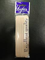 Шпатель деревянный для воска Zauber Manicure 10 шт