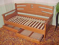 """Детский диван с бортиком """"Американка"""". Массив дерева - сосна, ольха, береза, дуб., фото 3"""