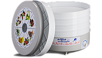 Сушилка для дома и дачи «ротор», 520w, объём 20 л, с 5-ю лотками, терморегулятором, загрузка 3-5 кг, 220v