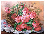 Схема для вышивки бисером Розовый букет