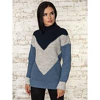 Шерстяной теплый зимний свитер с мохером 40% шерсть, 10% мохер (универсальный (S/L))