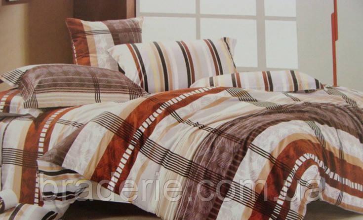 Сатиновое постельное белье евро ELWAY 4043