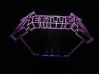 3d-светильник Металлика, Metallica, 3д-ночник, несколько подсветок (на батарейке)