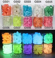 """Светящиеся Люминесцентная декоративные камни JAKCOMBER """"Glow Pebble""""  за 10 штук"""