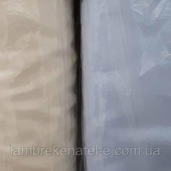 Тюль шифон белый однотонный с утяжелителем