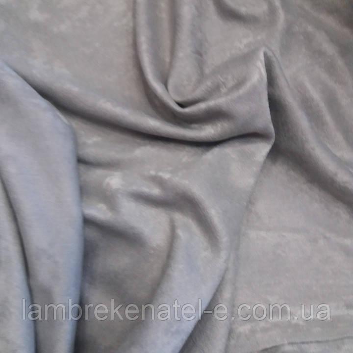 Портьерная ткань для штор серый софт двухсторонний