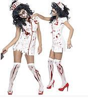 """Игровой костюм """"Медсестра"""". Костюм медсестры с кровью, размер единый s/m, фото 1"""