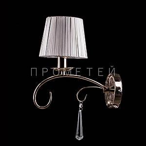 Бра классическое на 1 лампочку с абажуром P13-RM7006/1W/FGD