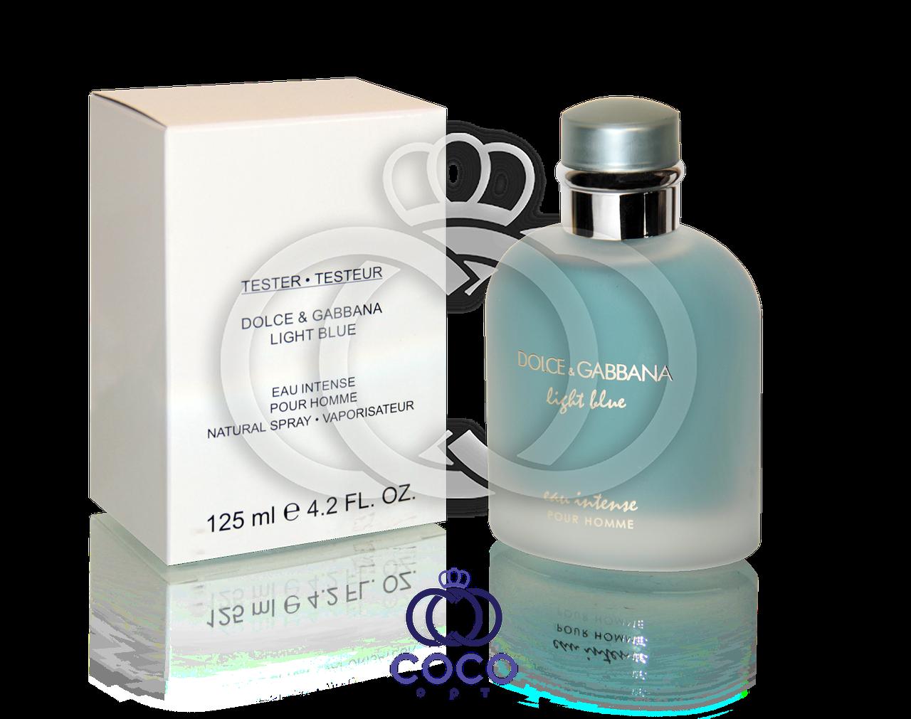 Парфюмированная вода D&G Light Blue Eau Intense Pour Homme Тестер