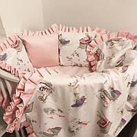 """Комплект постельного белья с бортиками в кроватку """"Принцессы"""""""