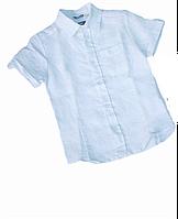 Тоненькая Летняя Рубашка Для Мальчиков Со Стильным Кармашком На Груди Sarabanda Италия. 98 см.