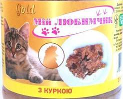 Консерва для кошек Мой Любимчик Gold с курицей 500г