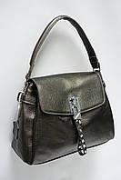 Небольшая сумка из натуральной матовой кожи 8093 pearl gold. Реплика