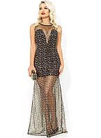 Вечернее платье-мини с золотыми звездами Д-1662
