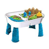 Набор песка для детского творчества - KINETIC SAND TABLE (голуб.,натур.,1360г, стол для игр) ТМ Kinetic Sand, фото 1