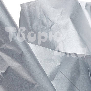 Тишью папиросная бумага серебро 50 х 70см (500 листов)