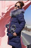 Детское зимнее пальто Мелитта-К цвет синий