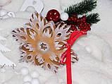 ЭКСКЛЮЗИВ! Силиконовый молд для выпечки пряника Снежинка XXL 18 см, фото 3