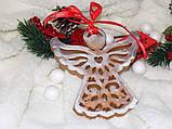 ЕКСКЛЮЗИВ! Силіконовий молд для випічки пряника Янголятко на Різдво 14 см, фото 2