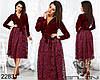 Нарядное платье, верх бархат, низ гипюр с подкладкой / 3 цвета  арт 7883-611 , фото 3