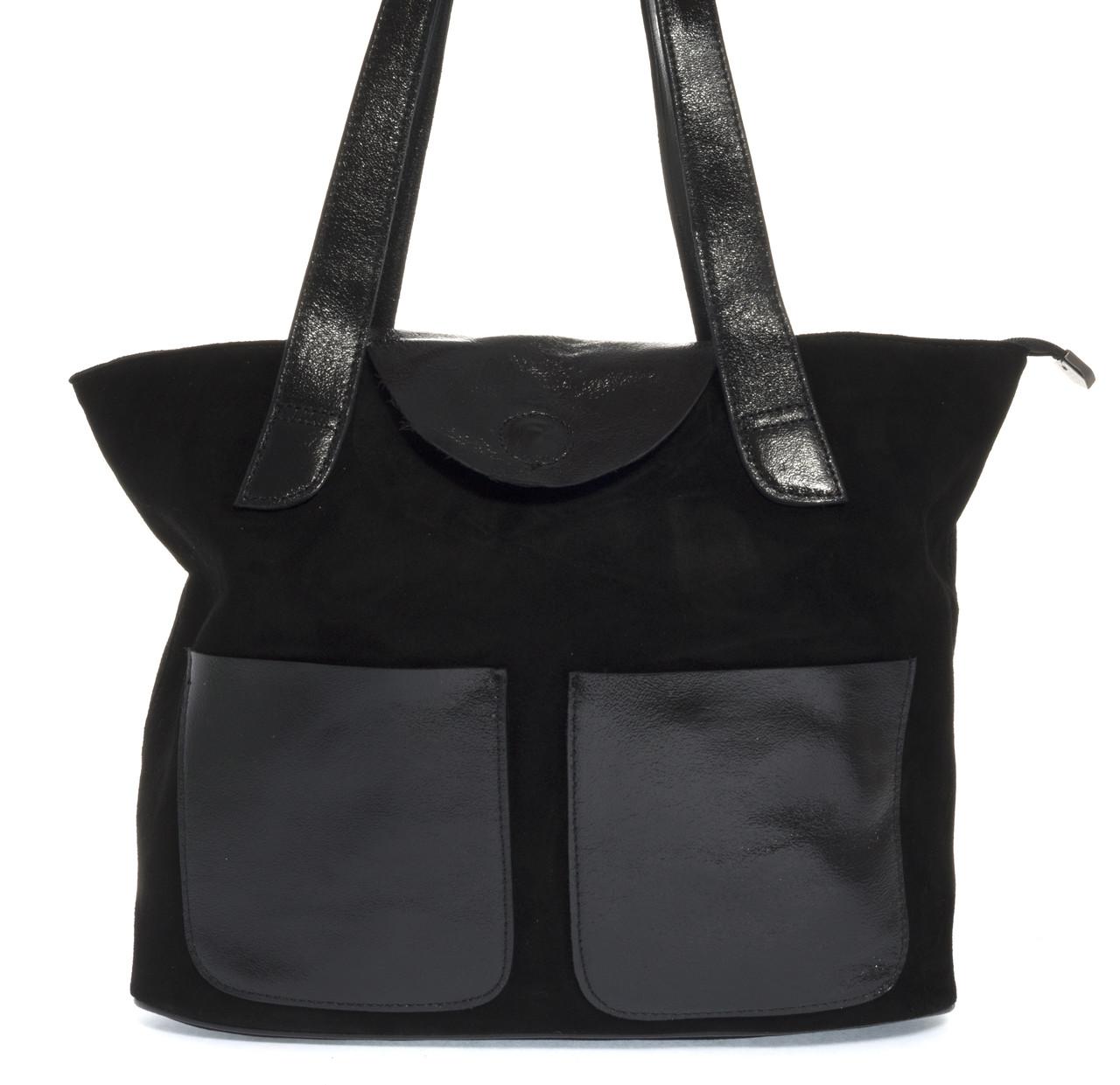 Стильная прочная женская сумка из мягкой натуральной замшевой кожи Princess art. 0263 Турция