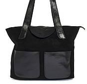 Стильная прочная женская сумка измягкой натуральной замшевойкожи Princess art. 0263 Турция