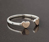 Кольцо Oriyana из серебра на фалангу пальца