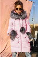 Детское зимнее пальто Мелитта-К цвет св.розовый