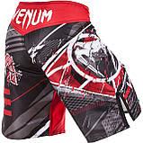 Шорты для MMA Venum All Flags Fightshorts Black-Red, фото 2