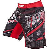 Шорты для MMA Venum All Flags Fightshorts Black-Red, фото 3