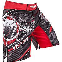 Шорты для MMA Venum All Flags Fightshorts Black-Red, фото 1