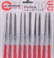 Набор надфилей 10шт/упак., 140мм.  Intertool HT-3708